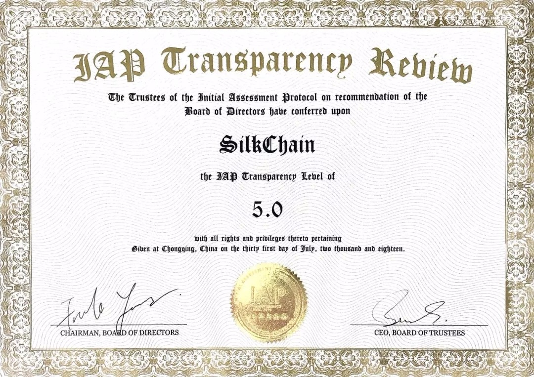 SilkChain Project Gains Five-star Rating from Top Rating Agency IAP